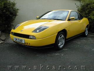 Yellow Fiat Coupe